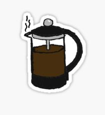 Coffee Plunger Sticker