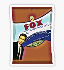 Fox Sunflower Seeds Sticker
