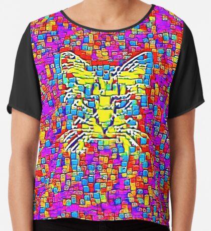 Lemon Cat Chiffon Top