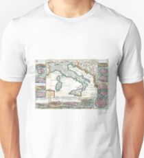 Antique Map - De LaFeuille's New Map of Italy (1706) T-Shirt