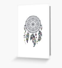 Native American Dream Catcher Art Greeting Card