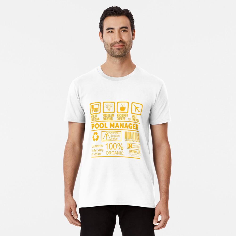 POOL MANAGER - Schönes Design 2017 Premium T-Shirt