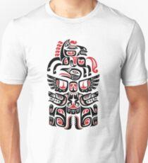 Native American Haida Wolf Horse Bird Art  T-Shirt