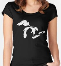 Lake Ontario Women's Fitted Scoop T-Shirt
