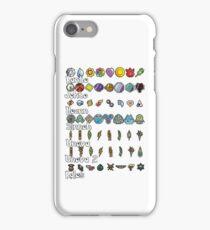 Pokemon Badges iPhone Case/Skin