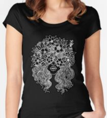 forever flower crown Women's Fitted Scoop T-Shirt