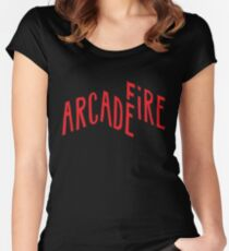 """""""Red Logo"""" of Arcade Fire Women's Fitted Scoop T-Shirt"""