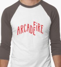 """Red Logo"" of Arcade Fire Men's Baseball ¾ T-Shirt"