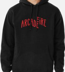 """""""Red Logo"""" of Arcade Fire Pullover Hoodie"""