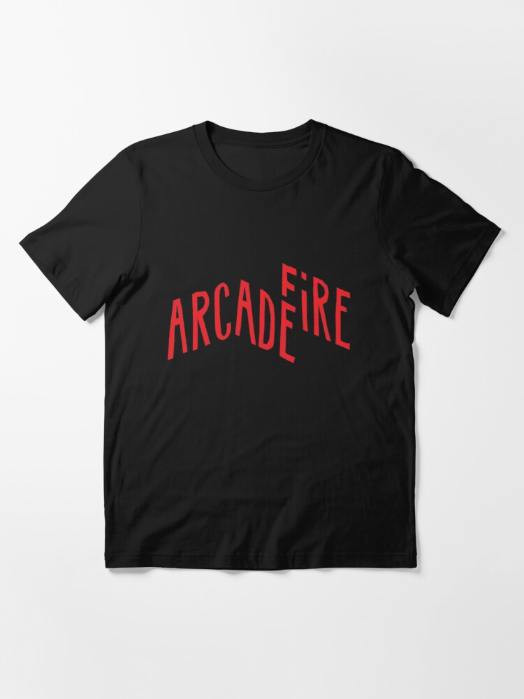 """Alternate view of """"Red Logo"""" of Arcade Fire Essential T-Shirt"""