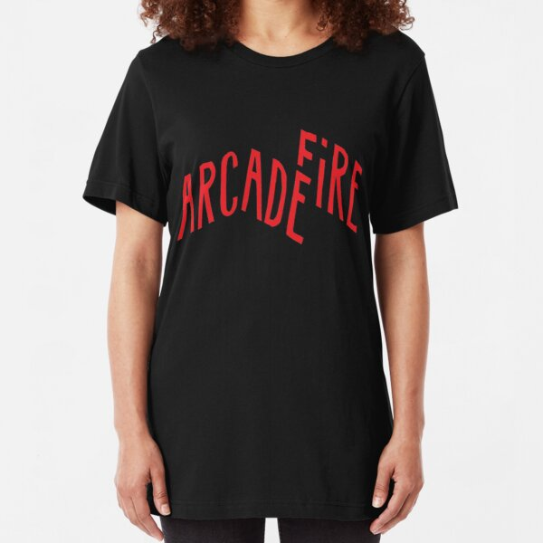 """""""Red Logo"""" of Arcade Fire Slim Fit T-Shirt"""