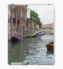 Canal in Venice, Italy, with boats and typical architecture  iPad Case/Skin
