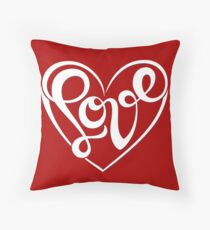 Love Lettering Throw Pillow