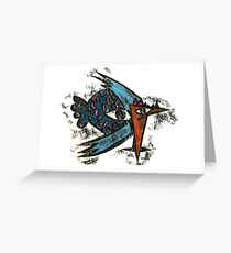 abstract drawing of chicken   Greeting Card