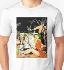 Zombie attack, graveyard, sci-fi comics cover, poster T-Shirt