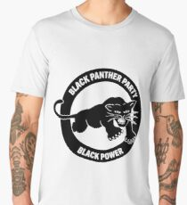 Black panther party panthers sticker Men's Premium T-Shirt