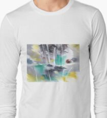 Grey n Colorful Long Sleeve T-Shirt