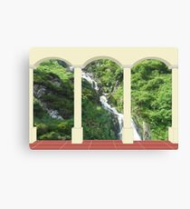 Waterfall under Arch Canvas Print