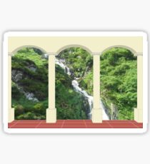 Waterfall under Arch Sticker