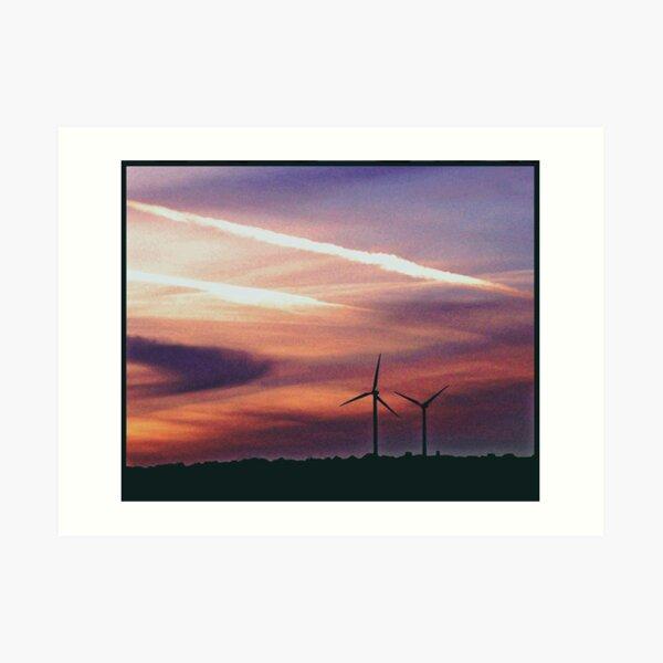 Urban Windmills Art Print