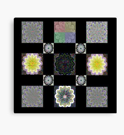 Digi Flower Quilt Canvas Print