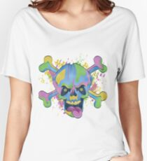Freaky Colorful Skull Women's Relaxed Fit T-Shirt