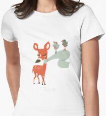 Biche des neiges T-shirt col V femme