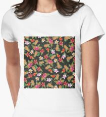 Tropical summer yellow pink watercolor fruit floral T-Shirt