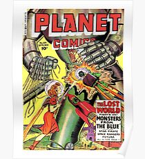 Lost world, monsters, sci-fi comics, cover, poster Poster