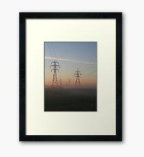 Electric Dawn Framed Print