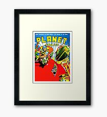 Planet comics, science fiction, cover, poster Framed Print