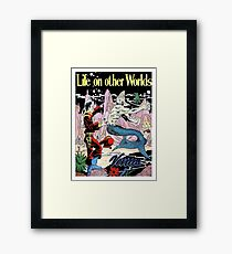 Life on other worlds, science fiction comics, cover, poster Framed Print