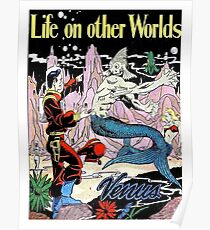 Life on other worlds, science fiction comics, cover, poster Poster