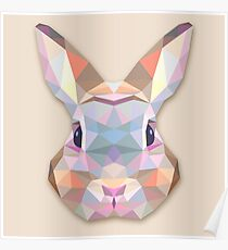 Rabbit Hare Animals Gift Poster