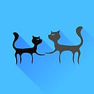 Two Cats Silhouettes by valeo5