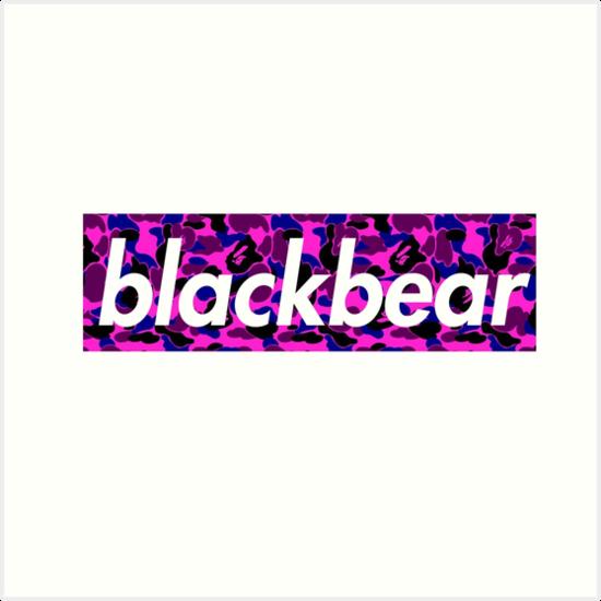 77da922cdb1417 blackbear box logo supreme merch camo purple