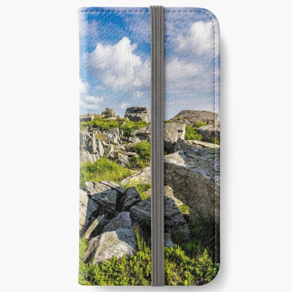 stones on the mountain top iPhone Wallet