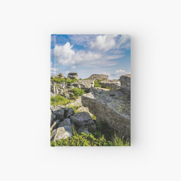 stones on the mountain top Hardcover Journal