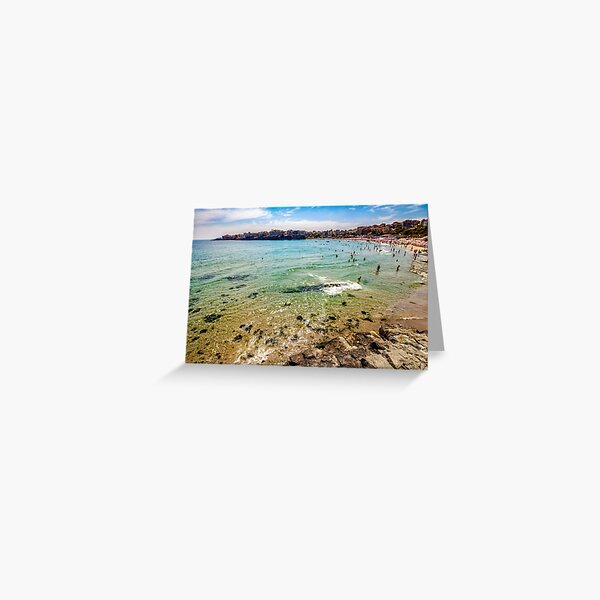 people at the sea beach of Sozopol Greeting Card