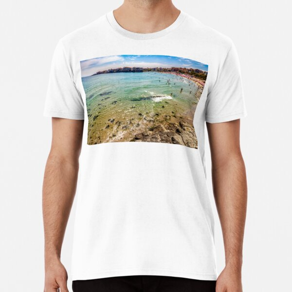 people at the sea beach of Sozopol Premium T-Shirt