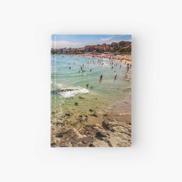 people at the sea beach of Sozopol Hardcover Journal