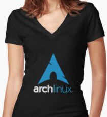 Arch Linux Merchandise Women's Fitted V-Neck T-Shirt
