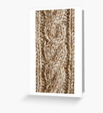 Stone Knit Cables Greeting Card