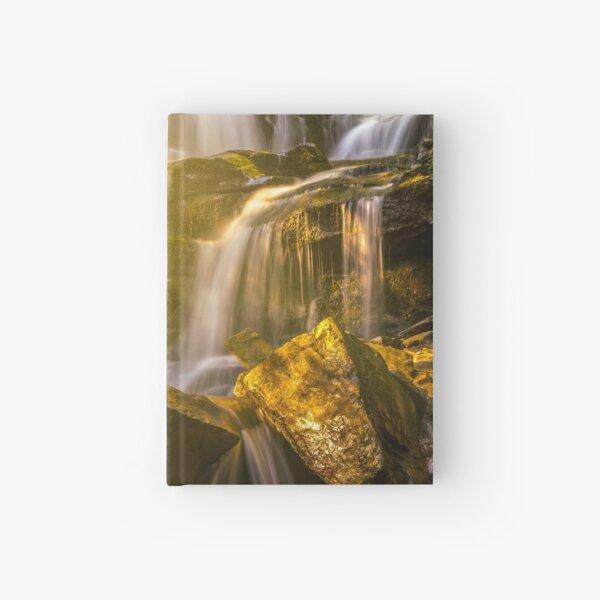 beautiful waterfall in sun rays Hardcover Journal