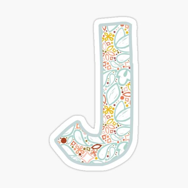 Letter j - Monogram Sticker