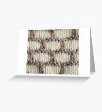 Cream Honeycomb Knit Greeting Card