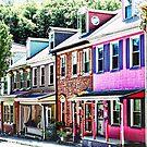 Jim Thorpe PA - Colorful Street by Susan Savad