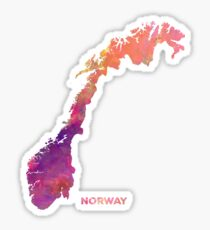 Norway #map #norway #norwaymap Sticker