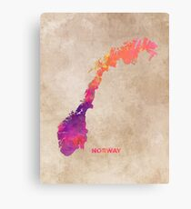Norway #map #norway #norwaymap Canvas Print