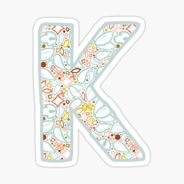 Letter K - Monogram Sticker